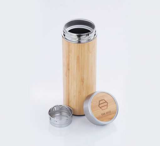 300ml Bamboo Flask with stainless steel lining.Fill it with tea, coffee, infused waters, juices and even soup! 100% Handmade and dermabrasion polished,