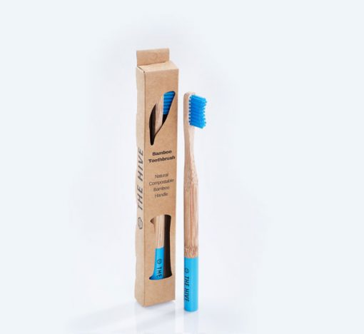 Made of natural bamboo, the Hive's bamboo toothbrush are recycle-able, compostable and most importantly sustainable