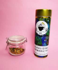 Organic, caffeine free alkalizing turmeric tea by Tea bird tea.
