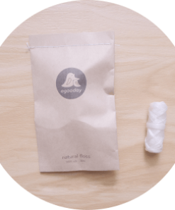 Agooday's Natural floss refill for your everyday teeth care. Made from natural silk coated with beeswax to add smootheness to the floss.