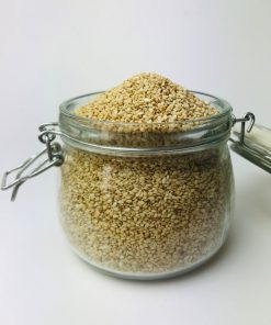 Sprinkle over your favourite meals, cereals, noodles, rice or toss it in your smoothies or on salads. White sesame seeds are same as black sesame seeds, but just the hull removed. White sesame seeds have sweet and nutty flavour.