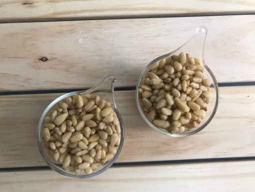 Crunchy yet textured, delicious and sweet pine nuts.