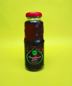 Pomegranate juice, direct from fruit organic.