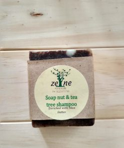 Soap nut and tea tree shampoo bar by Zene naturals is enriched with shea butter and nourishes your hair keeping it smooth. Shop online at the Hive Bulk foods, largest zero waste shop in Malaysia and Singapore.