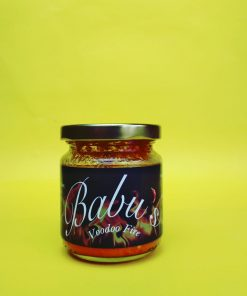 Babu's Voodoo Fire Sauce. With intense heat and flavour, Babu's Voodoo fire sauce is an adventure for the brave. Add directly to your dish or use in sauces, gravies or marinades.