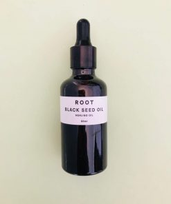 Root remedies black seed healing oil. For skin recovery and repair. It is an effective moisturiser, has plenty of antioxidants and protects against bacteria and fungus, relieving conditions such as eczema and psoriasis.