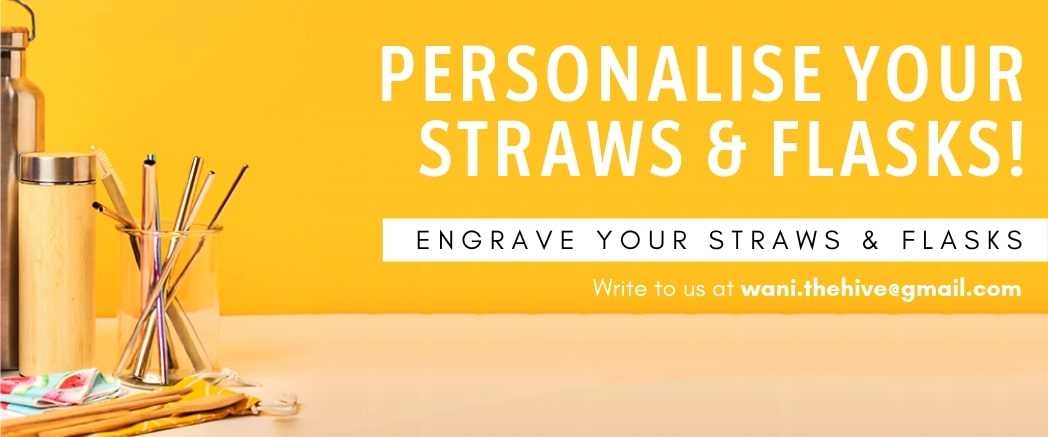 Personalised engrave for your straws, tumblers and flasks.