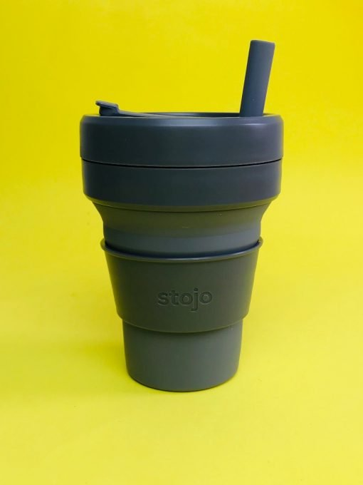 silicone straw stojo cup collapsible