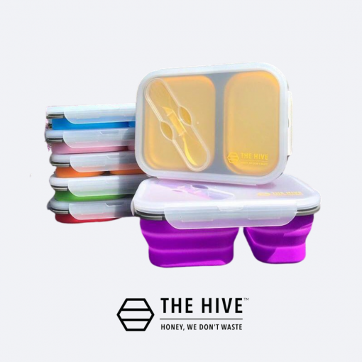 collapsible silicon lunch box