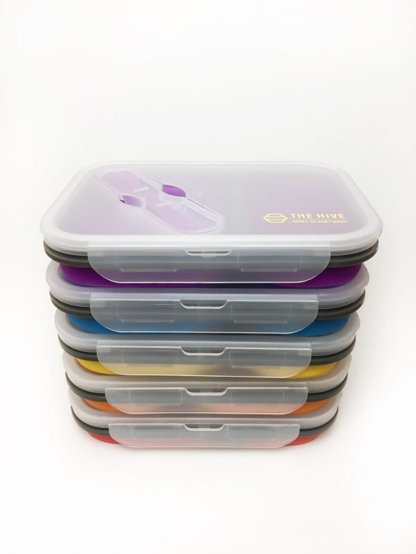 Collapsible Silicon Lunch Box The Hive